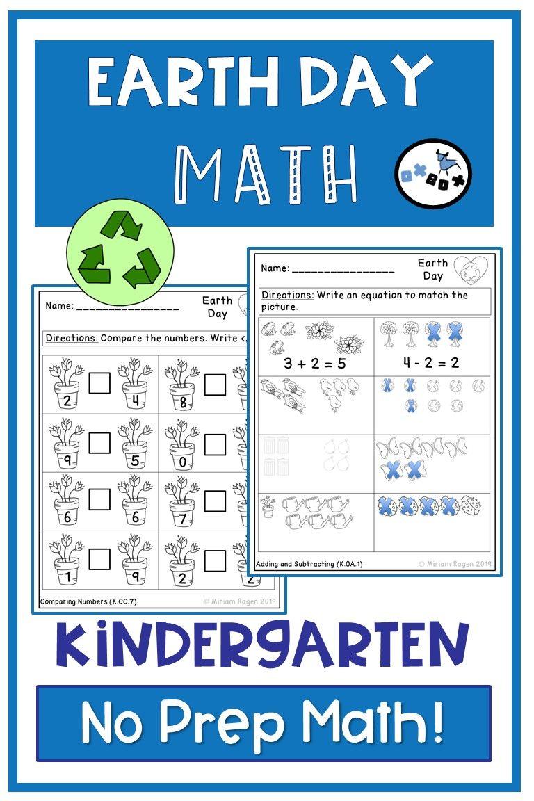 Earth Day Math Worksheets Kindergarten Common Core Aligned No Prep Kindergarten Math Worksheets Kindergarten Math Math Worksheets [ 1152 x 768 Pixel ]
