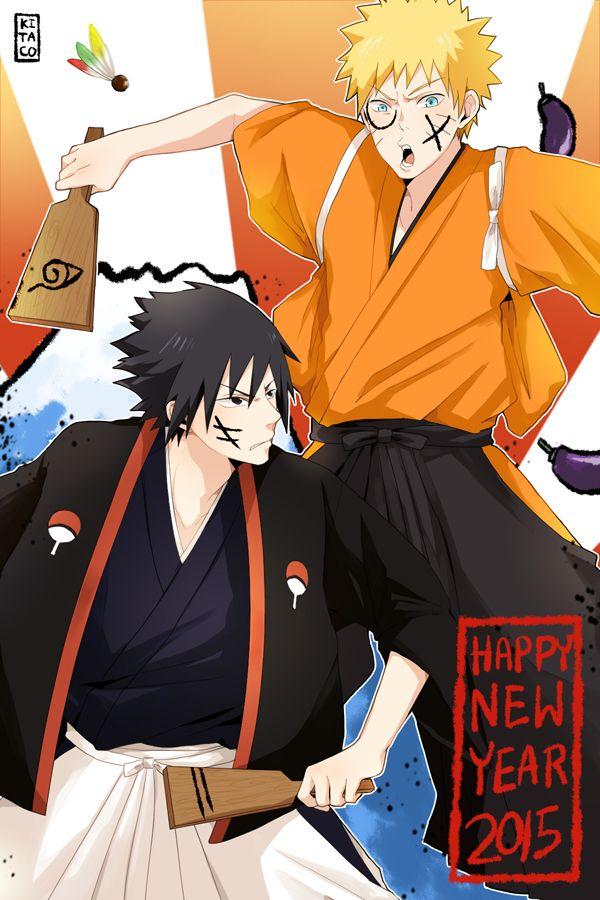 Naruto Uchiha Sasuke Uzumaki Naruto Text Happy New Year New Year
