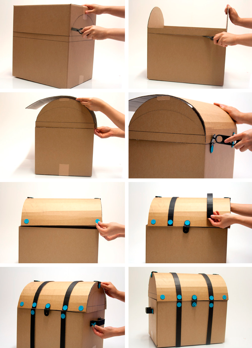 diy cardboard furniture. How To Make Cardboard Furniture. A DIY Treasure Chest. Furniture Diy N