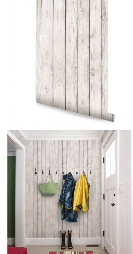 Wood White Peel And Stick Wallpaper Stick On Wood Wall Home Decor Home Diy