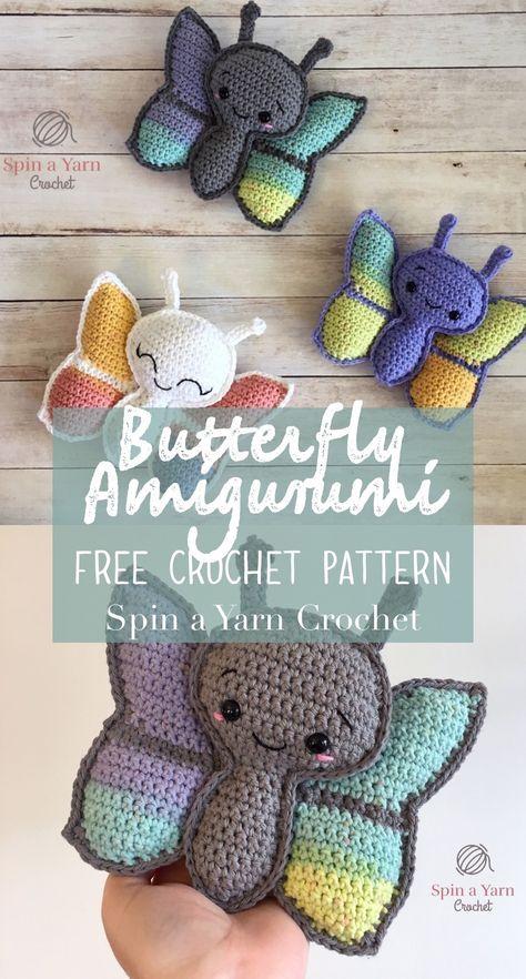 Butterfly Amigurumi Free Crochet Pattern   Pinterest   Häkeln ...
