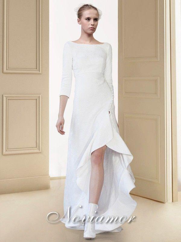 Longue Et Courte Robe Mariage Simple Moderne Bw1719 Dresses Formal Dresses White Formal Dress