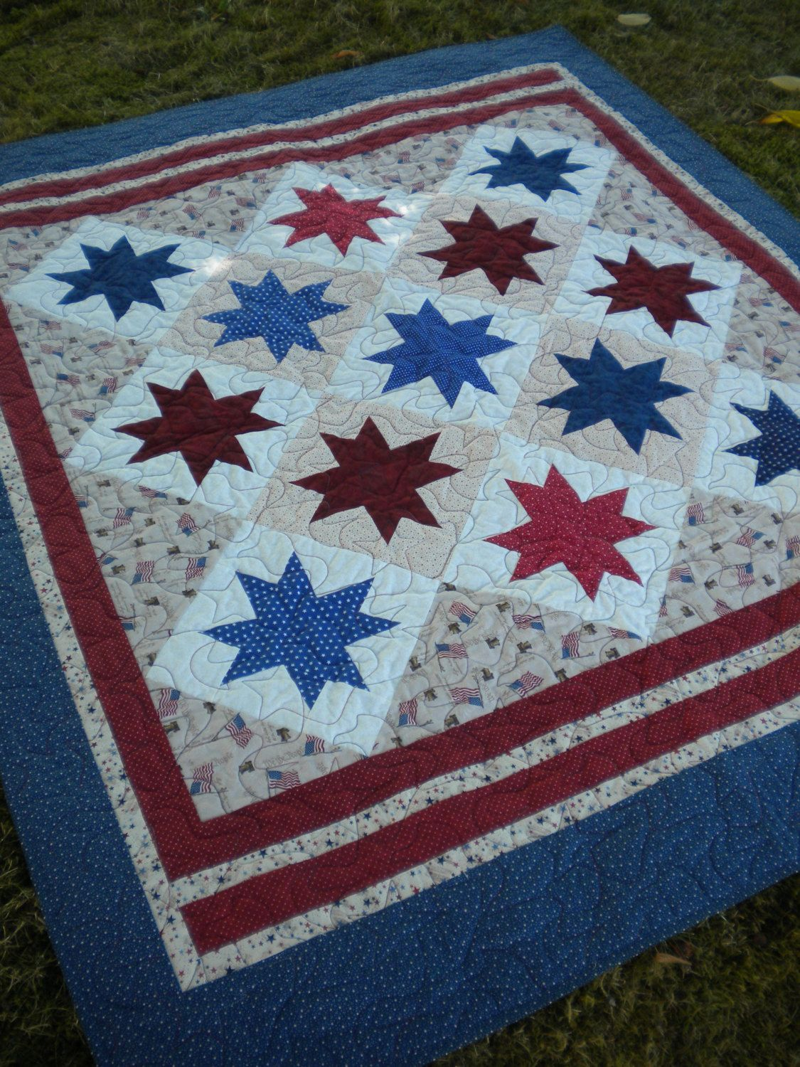 white the and s fleming blue quilt diamond quilts nine