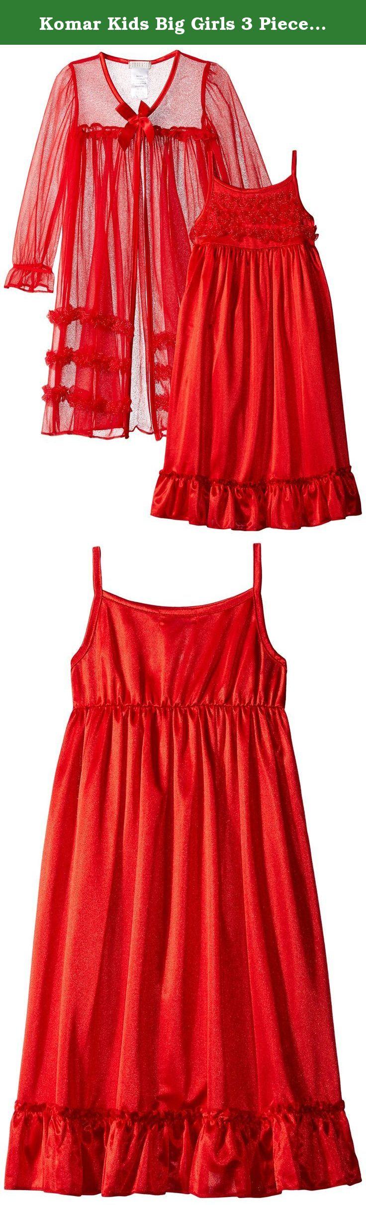 Komar Kids Little Girls/' Red Peignoir Gown Set