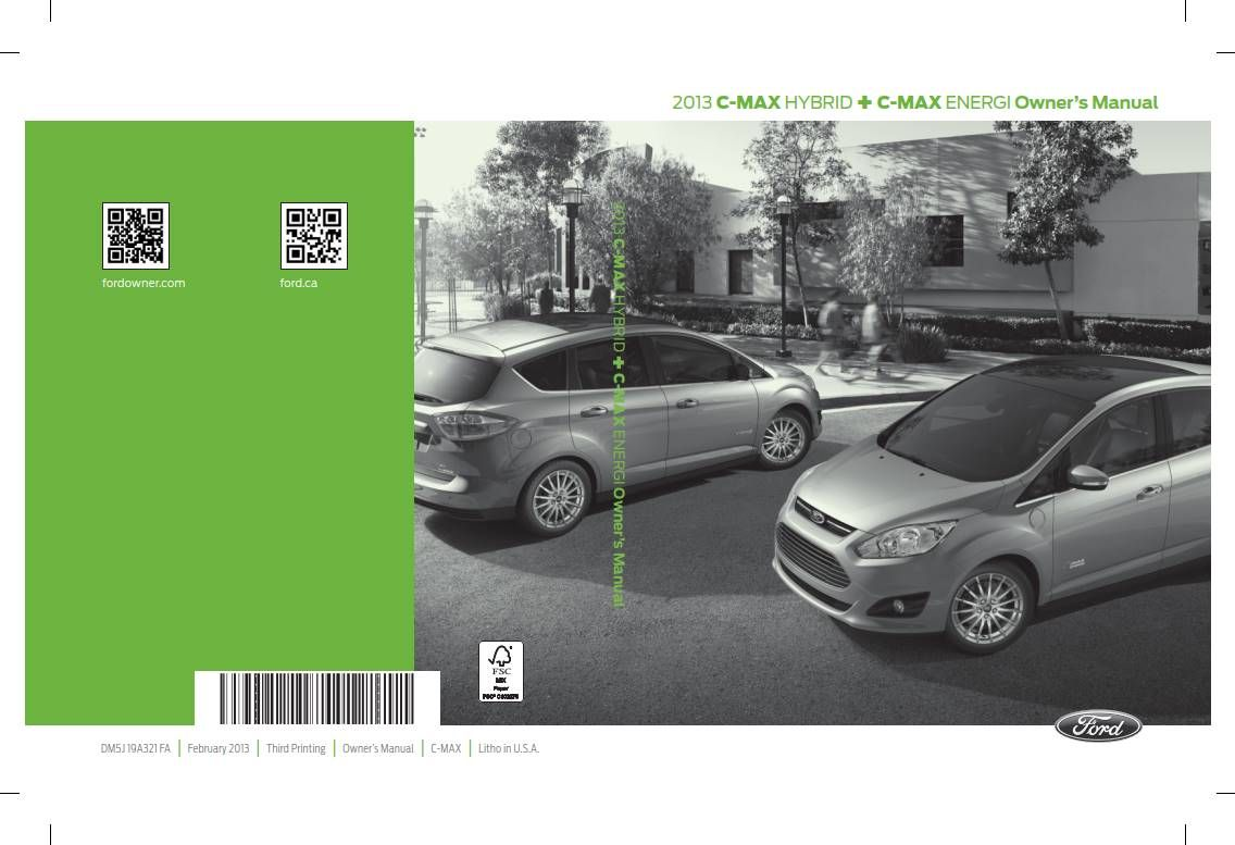 Ford C Max 2013 Owner S Manual Pdf Online Download Owners Manuals Manual Owners