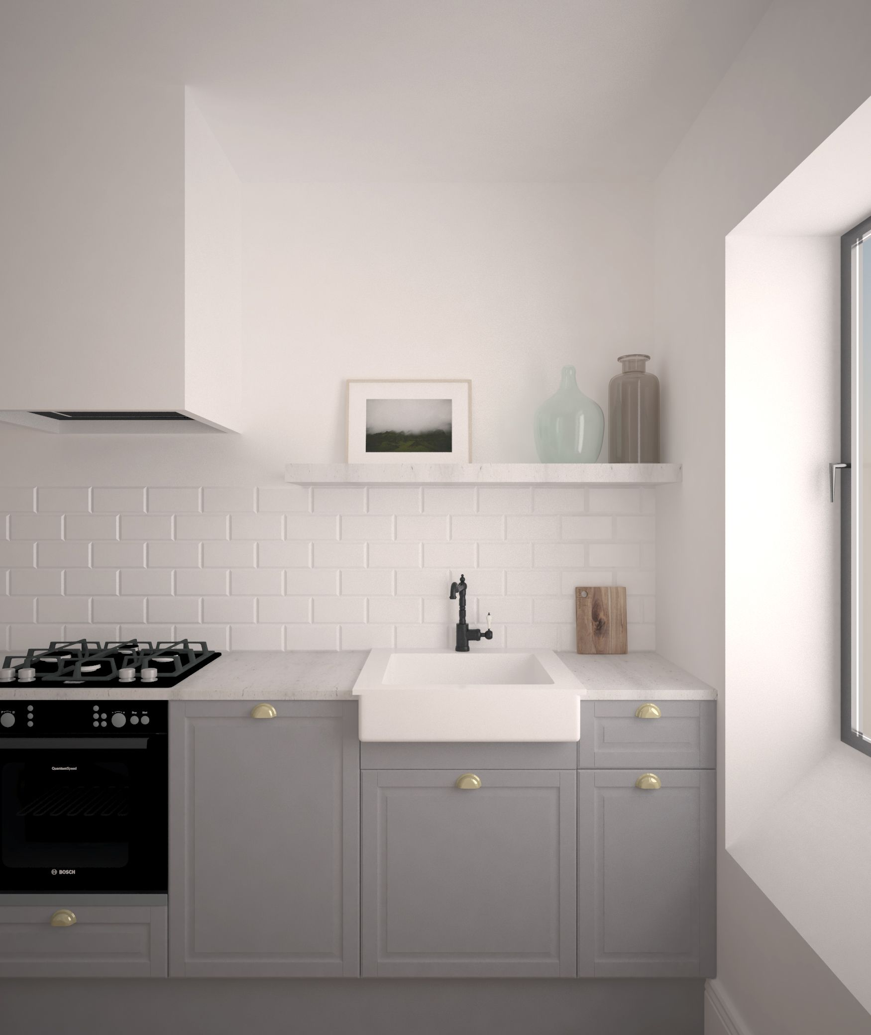 Awkward Kitchen Layout Solutions: Apartamento Sagardotegi
