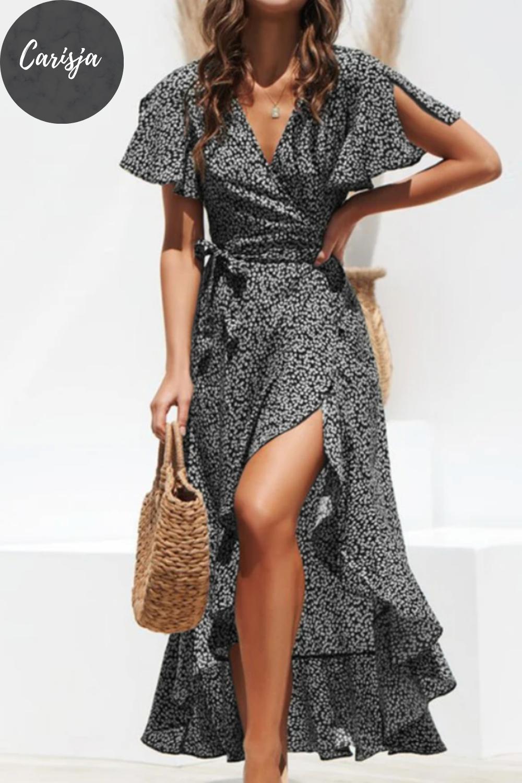 clara - langes volantkleid in 2020   kleider mode, kleider
