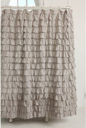 Waterfall Ruffle Shower Curtain from Urban Outfitters...  Love at first sight!