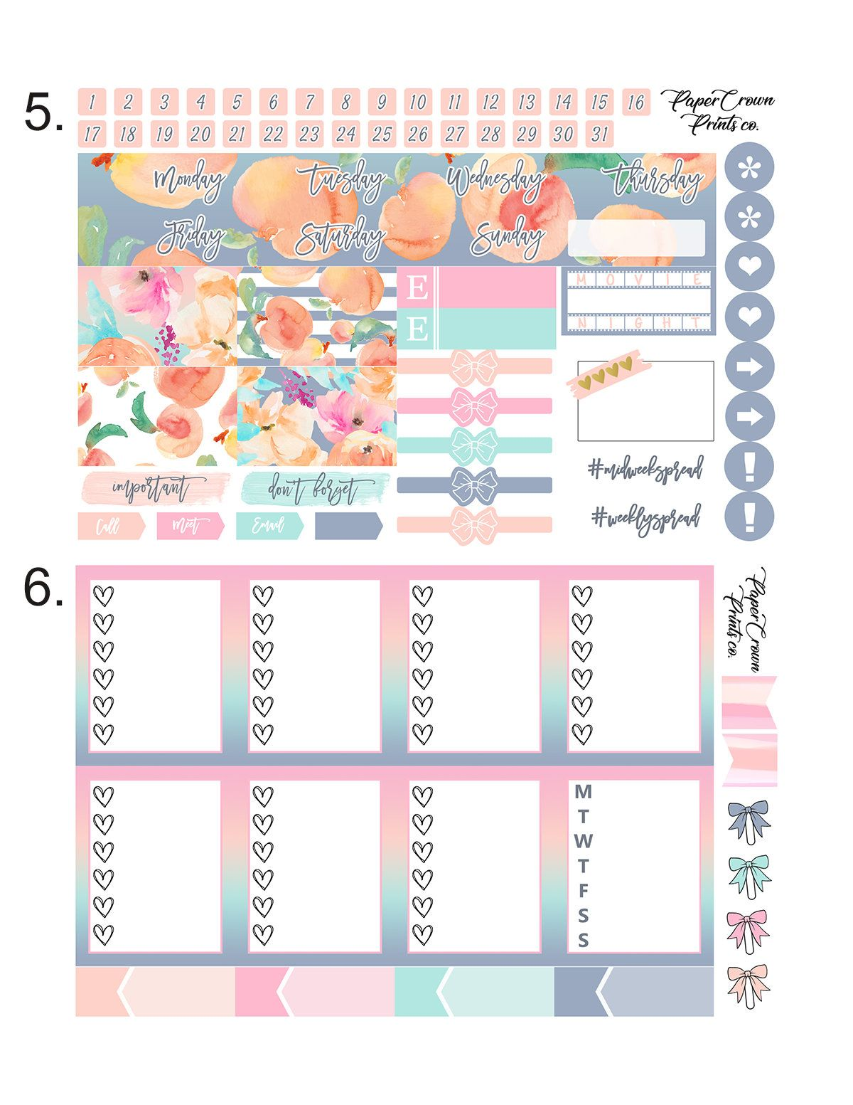 planner sticker kit notebook stickers Decoration paper stickers tag stickers