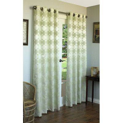 Commonwealth Home Fashions Hologram Circles and Squares Top Curtain Panel