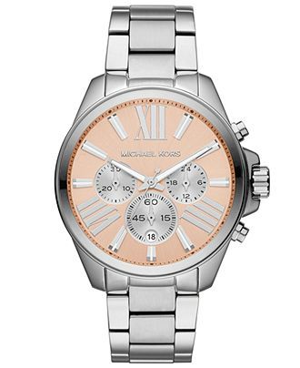 Michael Kors Watch, Women's Chronograph Wren Stainless Steel Bracelet 42mm MK5837 - Michael Kors - Jewelry & Watches - Macy's
