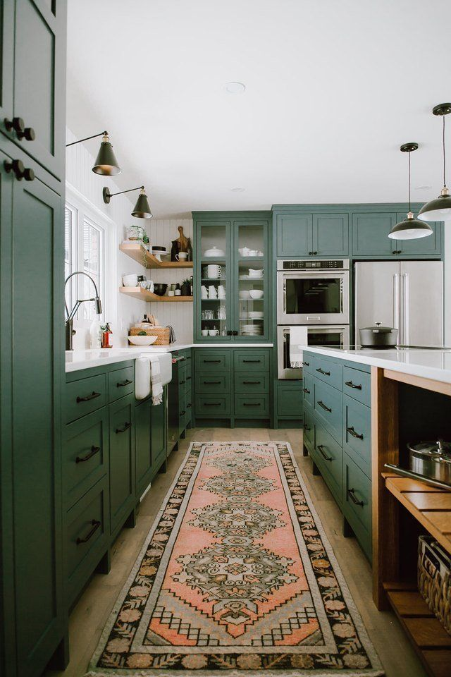 Photo of 13 Envy-Inducing Green Cabinets That Will Make Your Houseguests Jealous | Hunker