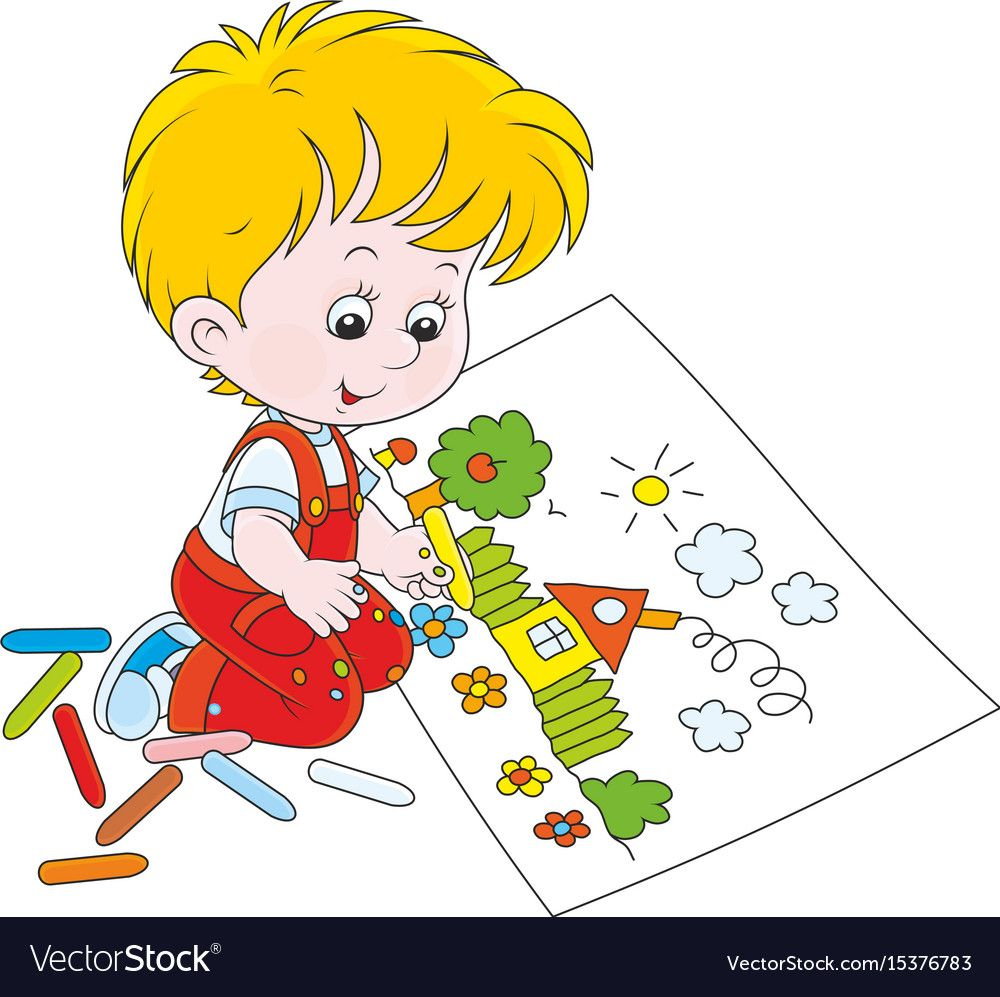 Child drawing vector image on Desenhos lindos, Decoração