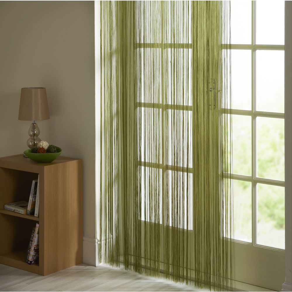 wilko string door curtain green 90cmx200cm at. Black Bedroom Furniture Sets. Home Design Ideas