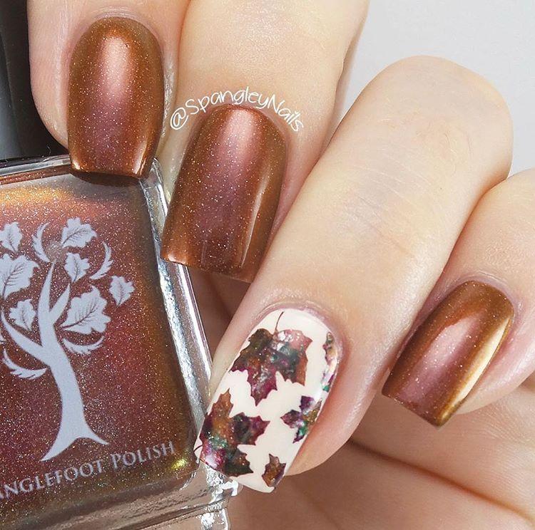 Autumn Leaf Nail Stencils | Fall manicure, Nail stencils and Manicure