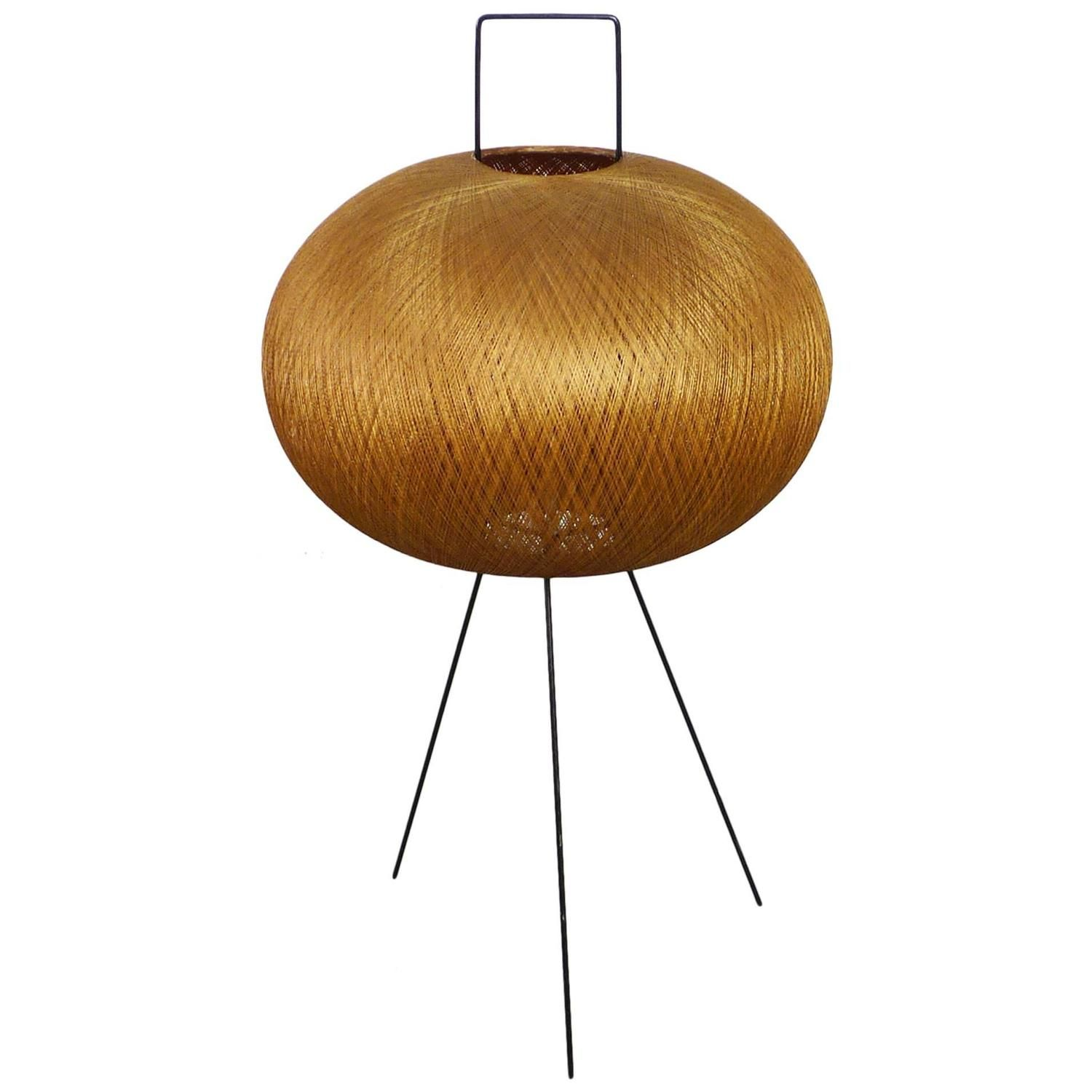 Tripod Floor Lamp In The Style Of Isamu Noguchi Germany 1950s From A