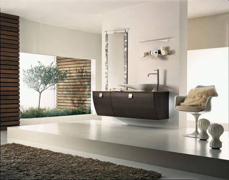 Bagno minimal zen Stile orientale, Arredamento e