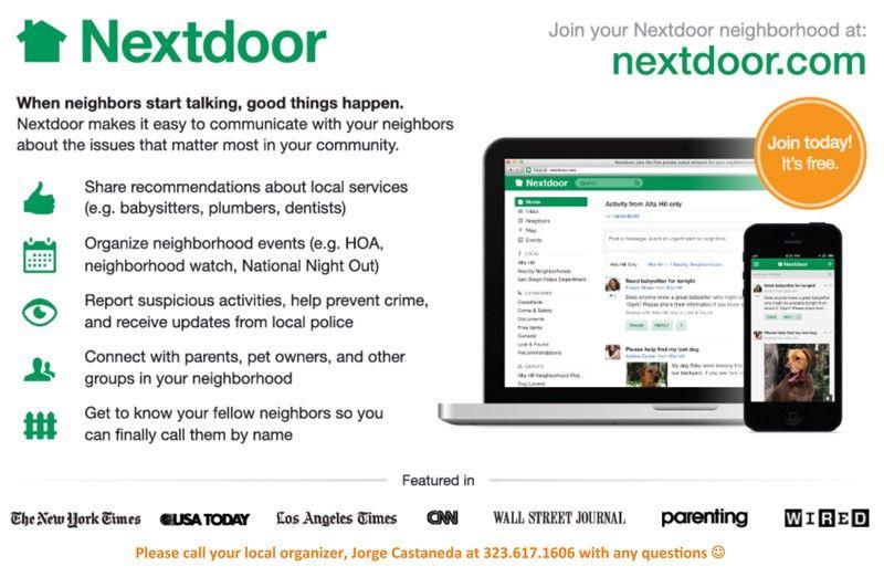 Image result for nextdoor advertising The neighbourhood