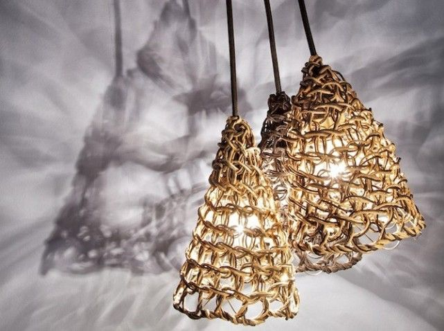 lampe en papier artisanat objets deco research pinterest papier lampe corde et d co. Black Bedroom Furniture Sets. Home Design Ideas