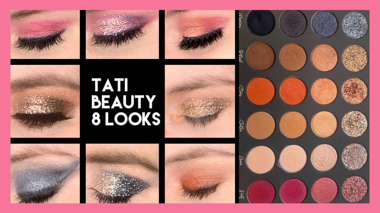 Tati Beauty Palette Tutorial 8 Looks YouTube Palette