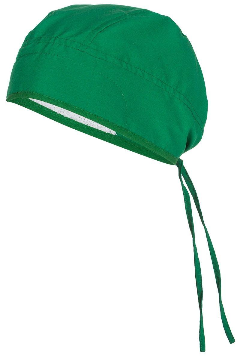 Gorro sanitario de microfibra en color verde quirófano. Se ata en la ...