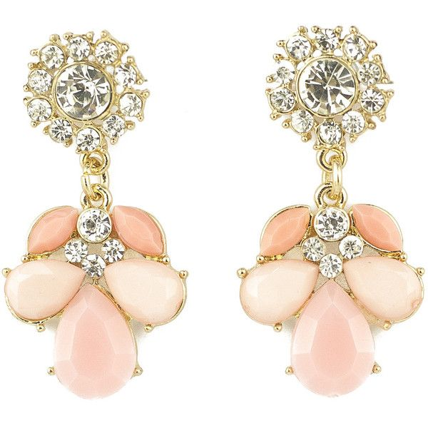 Emi Jewellery Of a Time Gone by Earrings ($21) ❤ liked on Polyvore featuring jewelry, earrings, pink, pink jewelry, earrings jewelry and pink earrings