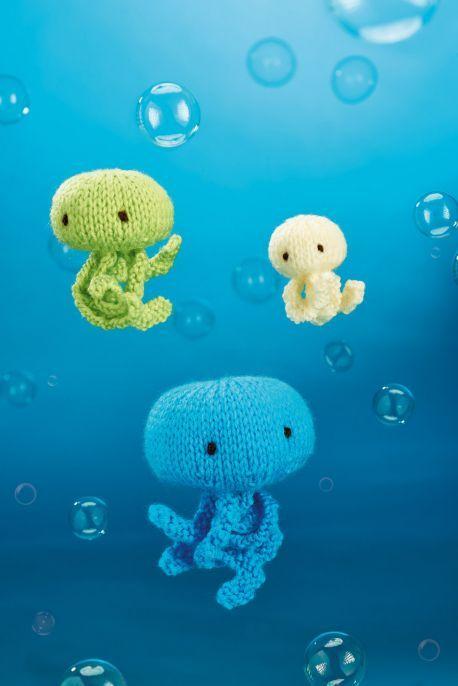 Jellyfish Trio - Free Knitting Patterns - Amigurumi | Jellyfish ...