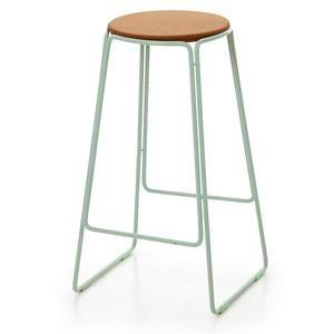Smed Stool In Mint Powder Coated Steel Frame With Cork Seat H700mm X W400mm X D400mm Ox Design And Great Dane F Kitchen Bar Stools Bar Stools Kitchen Stools