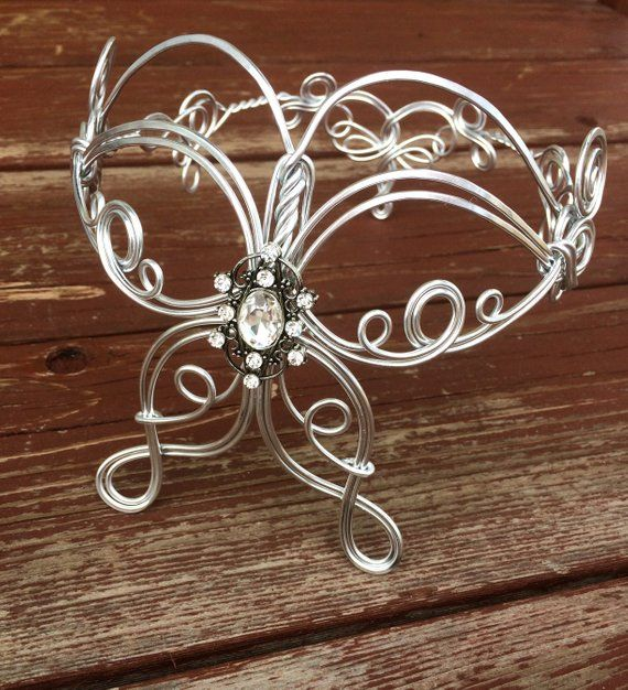 Butterfly Elven Coronation Circlet - Celtic Hand Wire Wrapped - Choose Your Own Color