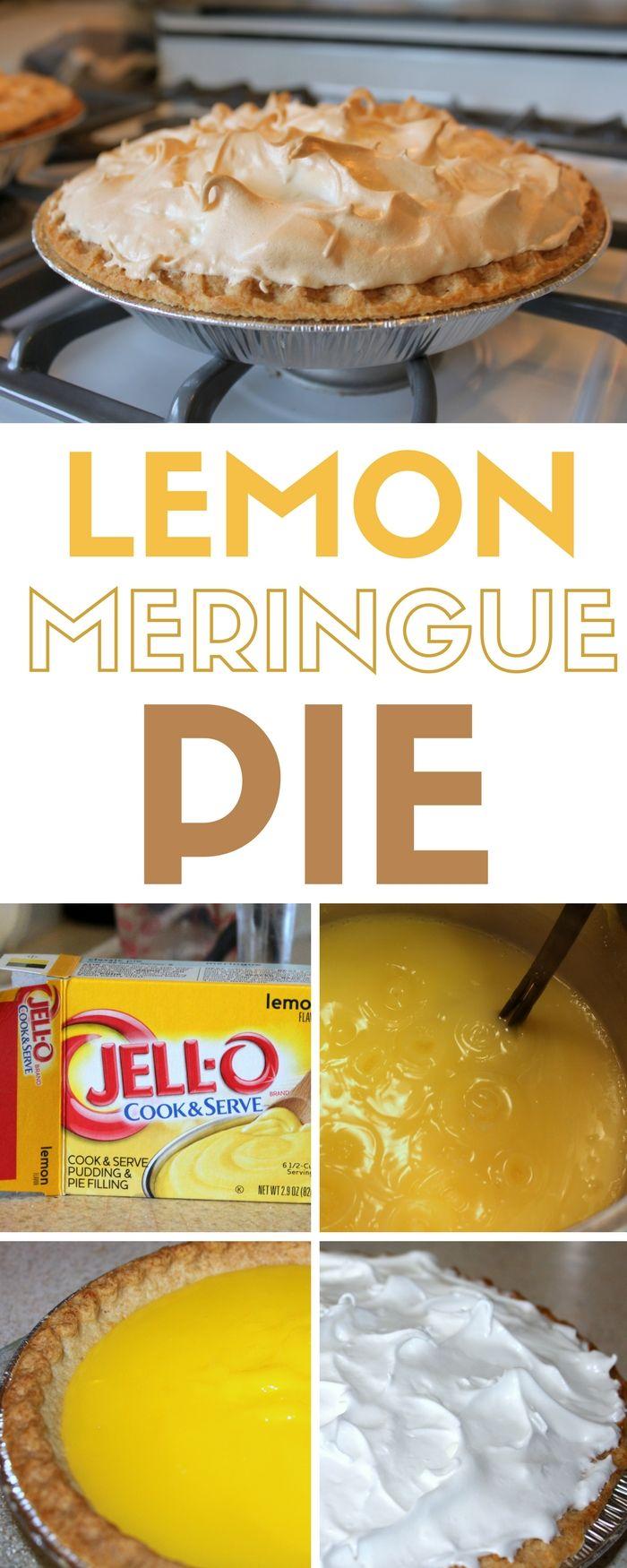 Jello Lemon Meringue Pie Recipe : jello, lemon, meringue, recipe, Lemon, Meringue, Recipe, Pudding, Recipes,