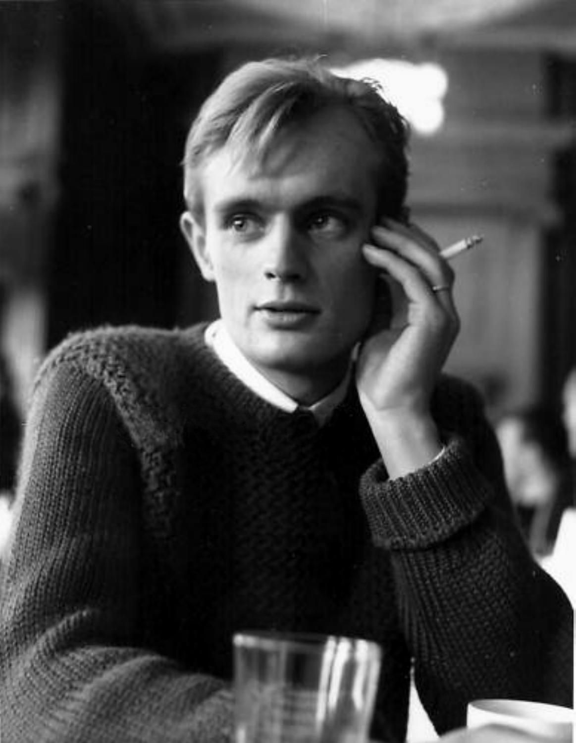 David McCallum smoking a cigarette (or weed)