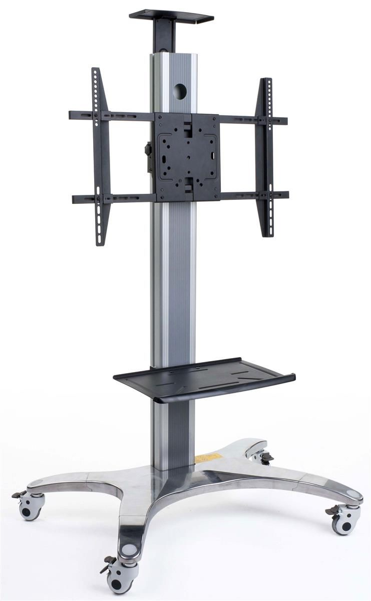 Tv Stand With Shelf Fits Monitors 40 Quot To 60 Quot Camera Tray