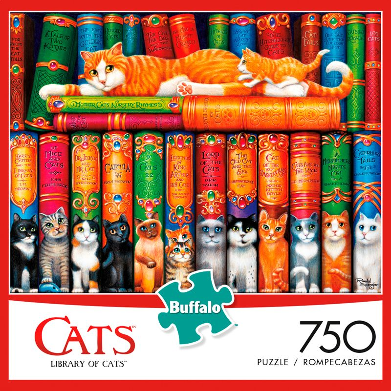 Cats Library Of Cats 750 Piece Jigsaw Puzzle  Jigsawpuzzle