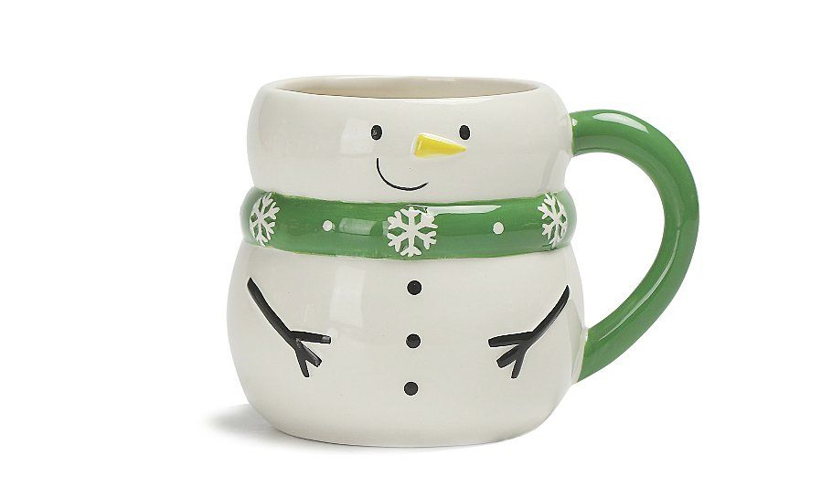 Snowman Shaped Mug Home Garden George Mugs Snowman