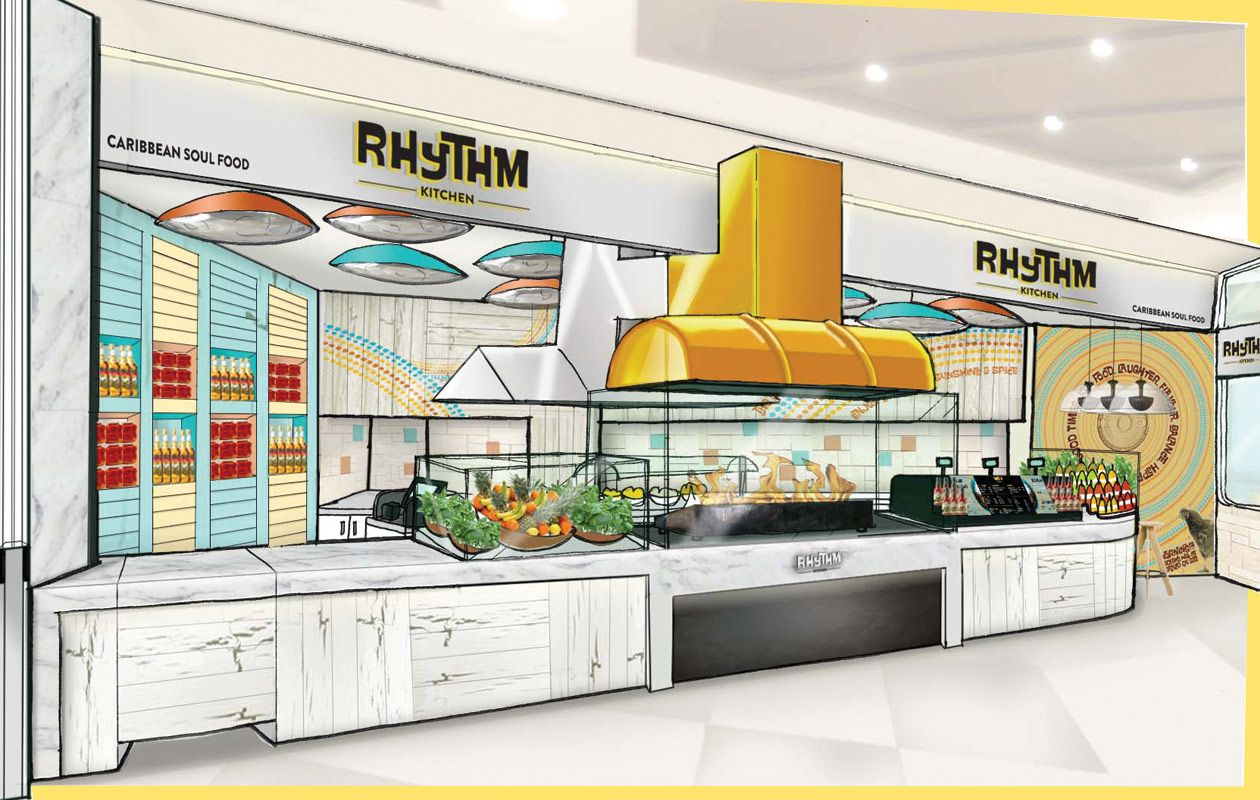 Rhythm Kitchen  Concept Sketches for Interior Design