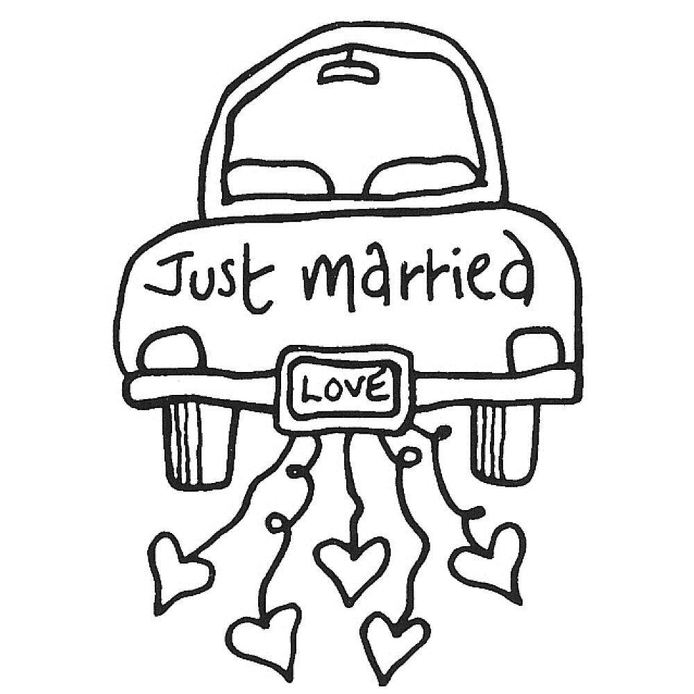 Just Married Car Hochzeit Auto Hochzeit Zeichnung Kinder Auf