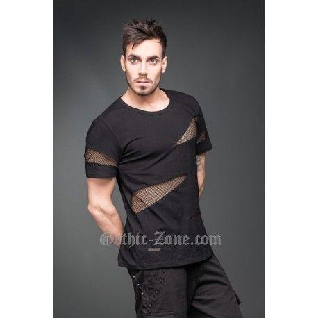a415dc2a3 Camiseta hombre con cortes y red | playeras | Camiseta hombre ...