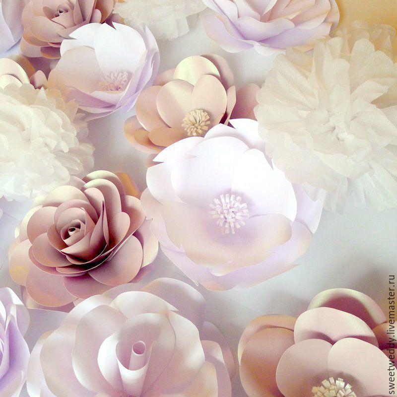Купить бумажные цветы на стену