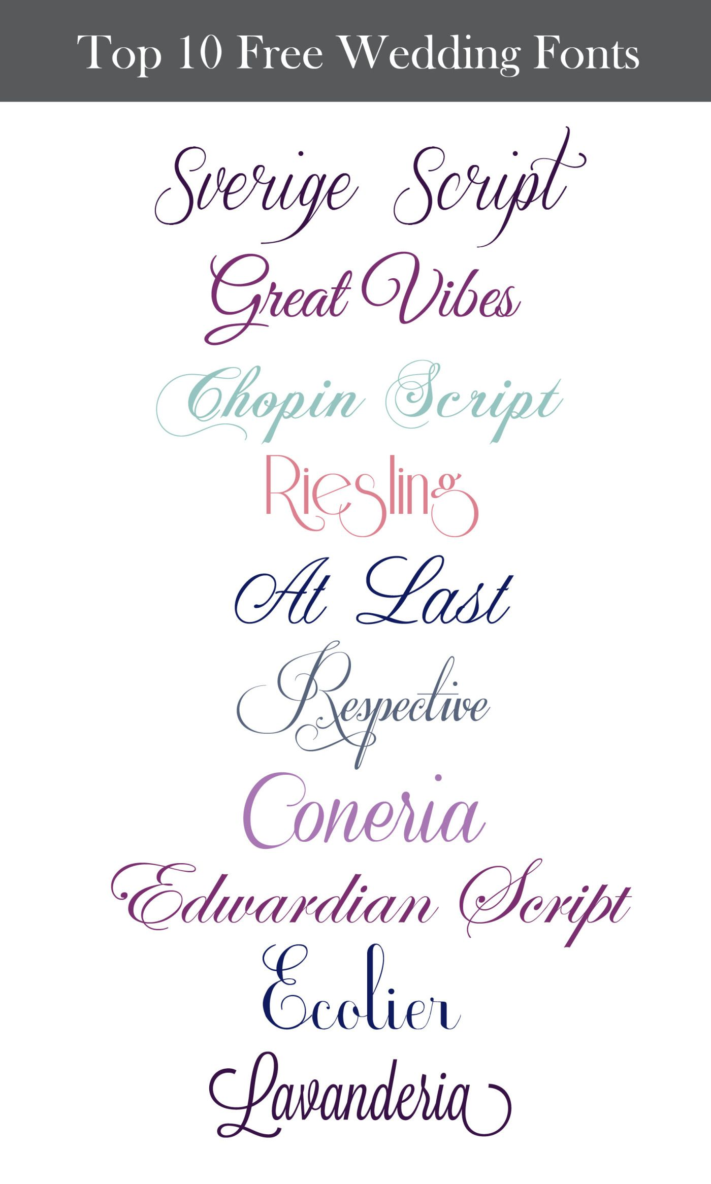 Inspiration Wednesday Free Wedding Fonts Fonts Inspiration and