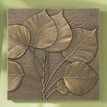 5960461502 Bronze Leaf Pared Decor Hoja De Aspen