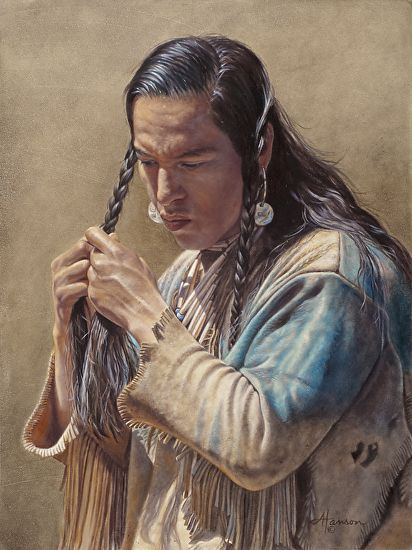 White Wolf : Incredibly Detailed Native American Paintings By Ann Hanson