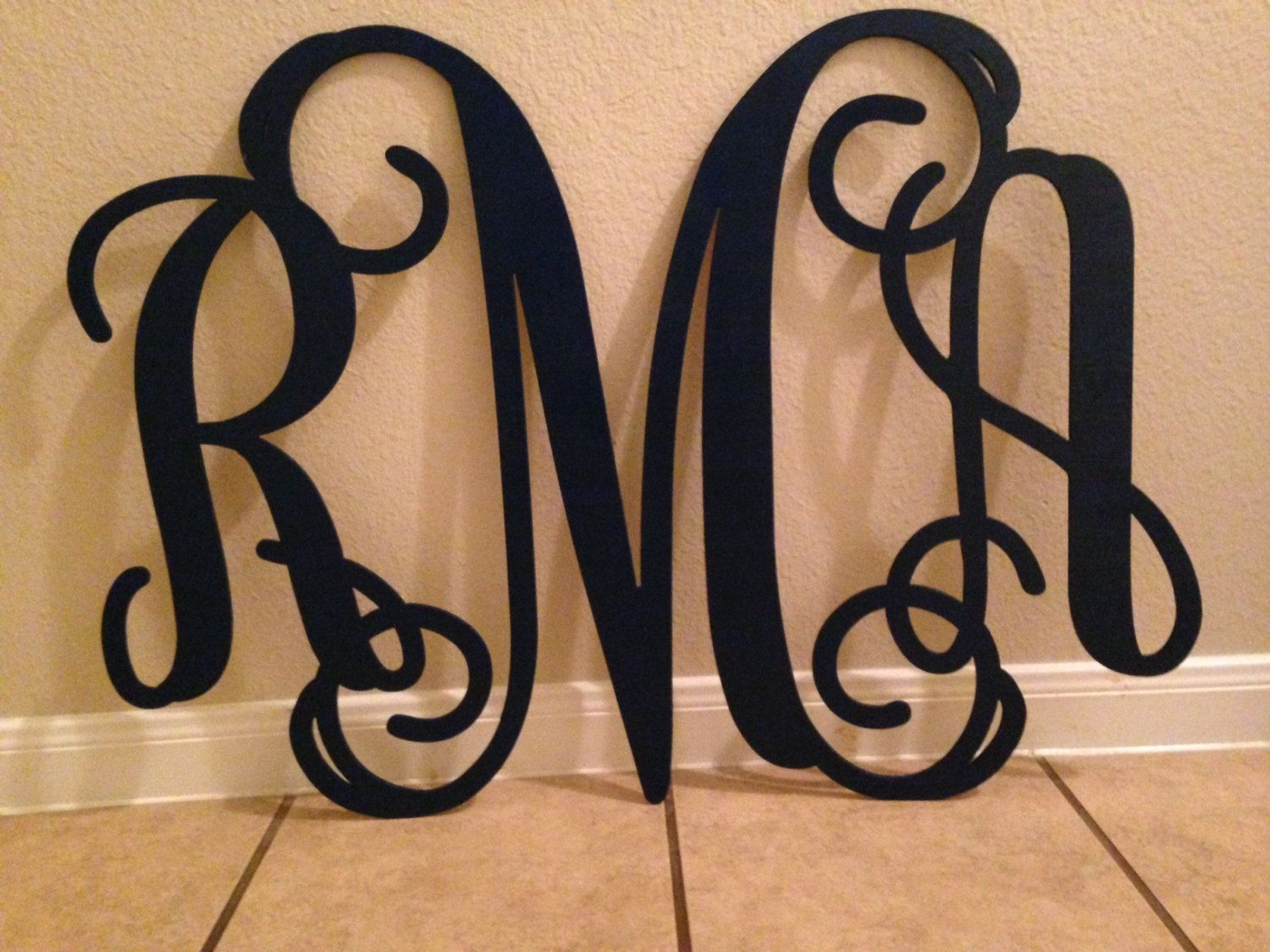 Home Decor 24 Wooden Monogram Wall Art By