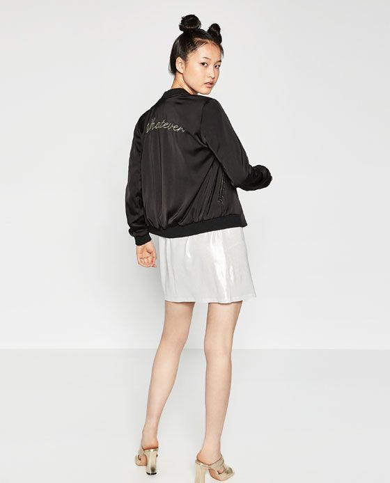 a825a8b7c0 Image 1 of EMBROIDERED FLOWING BOMBER JACKET from Zara | SS16 ...