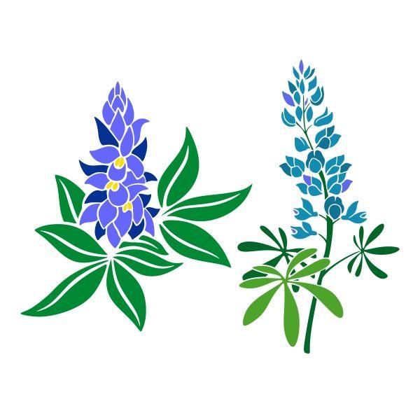 bluebonnet cuttable design cut file vector clipart digital rh pinterest com au bluebonnet flower clipart bluebonnet flower clipart