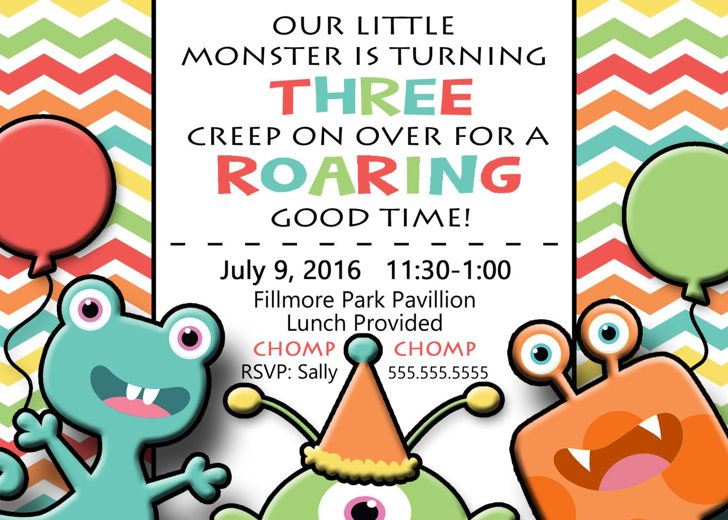 Monster Birthday Invitations by BumblebeeBeginnings on Etsy