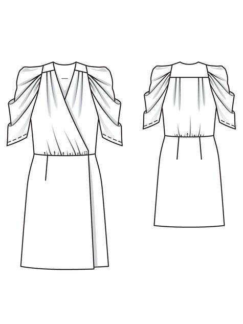 Wrap Dress 12 2010 102a Dress Design Sketches Fashion