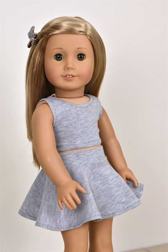Photo of Top Grey color 18 inch doll clothes EliteDollWorld EDW #18in…