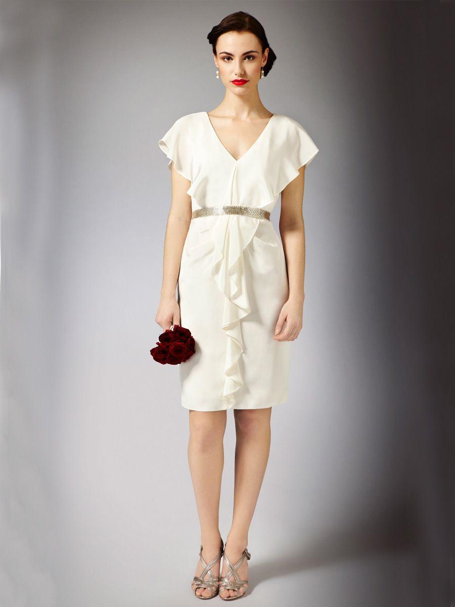 modern-summer-knee-length-wedding-dress-with-waterfall-neckline ...