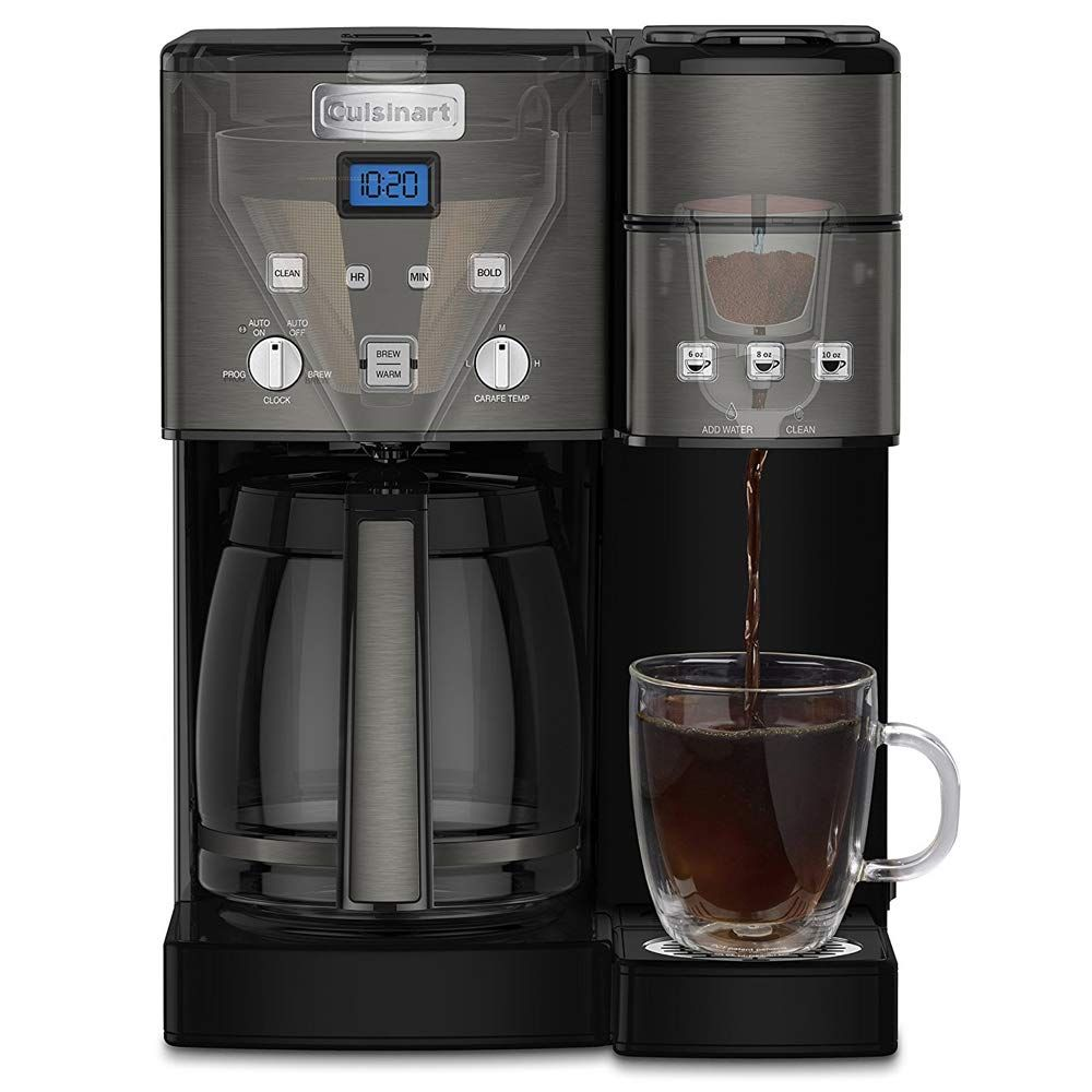 Cuisinart Ss15 12cup Coffee Maker And Singleserve Brewer Black Stainless With Extended Warranty In 2020 Cuisinart Coffee Maker Coffee Maker Single Serve Coffee Makers
