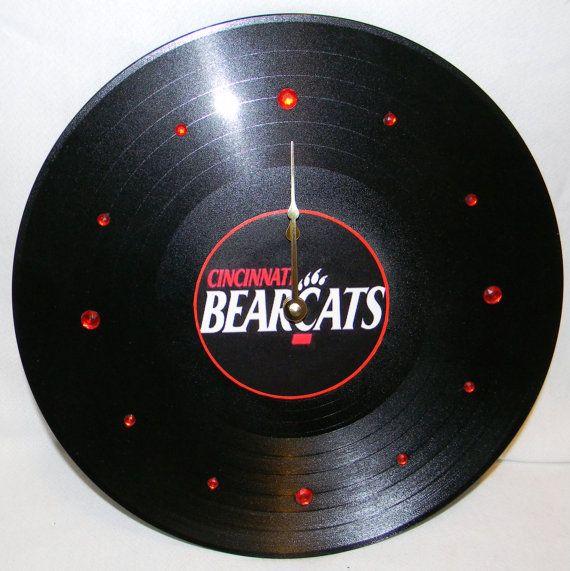 CINCINNATI BEARCATS Vinyl Record Wall Clock by PandorasRecordArt, $25.00